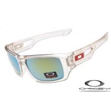 Oakley eyepatch 2 sunglasses clear frame / ice iridium lens