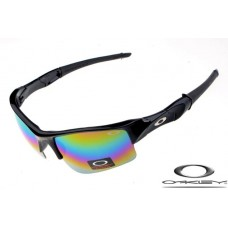 Oakley flak jacket sunglasses with polished black frame / fire iridium lens
