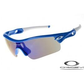 oakley radar path sunglasses with navy blue frame / black iridium lens for sale