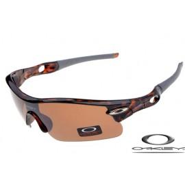 oakley radar pitch sunglasses with camo frame / persimmon