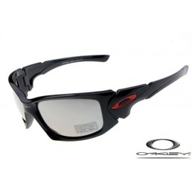 Oakley scalpel sunglasses with black frame / clear